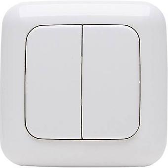 STANDARD 2/4 Kopp Free Control 4-channel Wall-mount switch Alpine white