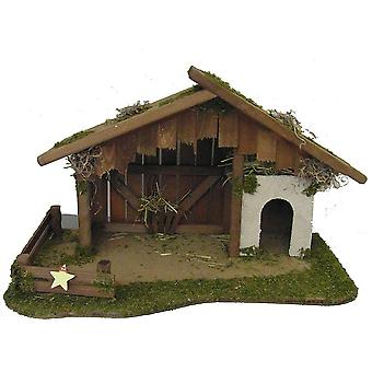 Crib Nativity scene wood Nativity stable Matthew S hand work for characters up to 13 cm