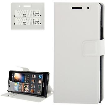 Cas de téléphone portable pour téléphone portable Huawei Ascend P6 blanc