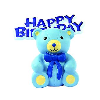Anniversary House Happy Birthday Teddy Bear Cake Decoration Topper
