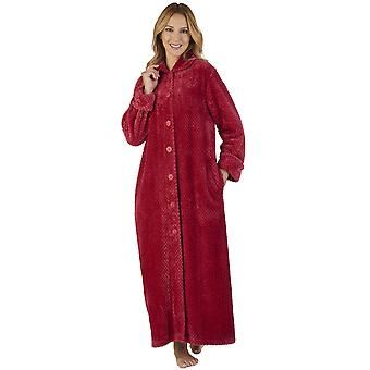 Slenderella HC2332 kvinners vaffel flanell kappe Loungewear bad slåbrok