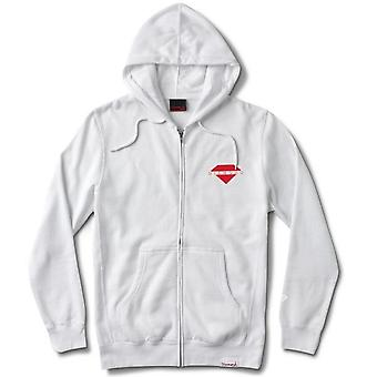 Diamond Supply Co Viewpoint Zip Hoodie White