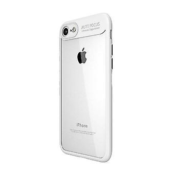 Stuff Certified® iPhone 8 Plus - Auto Focus Armor Case Cover Cas Silicone TPU Case White