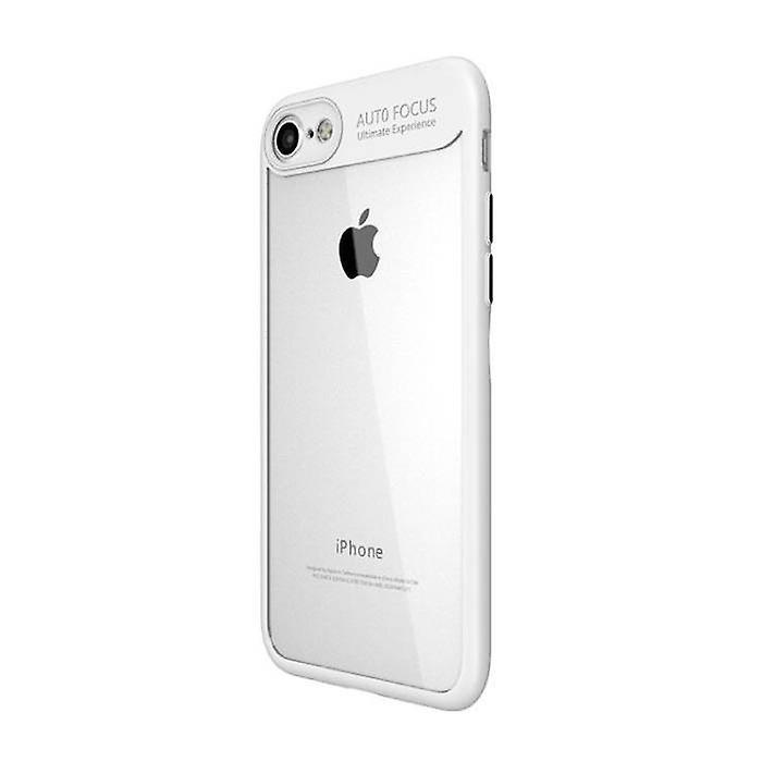 Stuff Certified® iPhone Plus 8 - Auto Focus Armor Case Cover Cas TPU Silicone Case White
