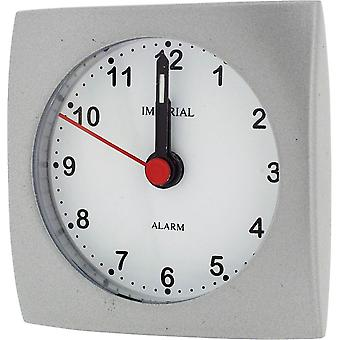Gift Time Products Small Square Alarm Clock - Grey