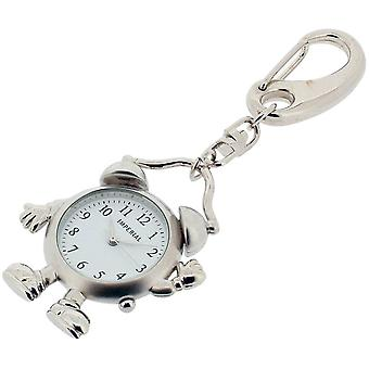 Gift Time Products Alarm Man Clock Key Ring - Silver