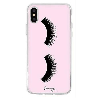 The Casery Lashes iPhone X/XS Case - Pink/Black