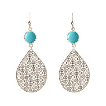 GEMSHINE women's earrings mandalas turquoise silver, gold plated or rose gold plated