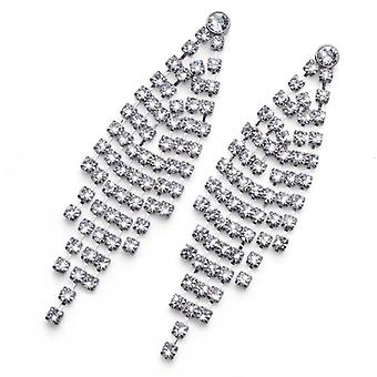Oliver Weber Post Earring Cup Rhodium Crystal