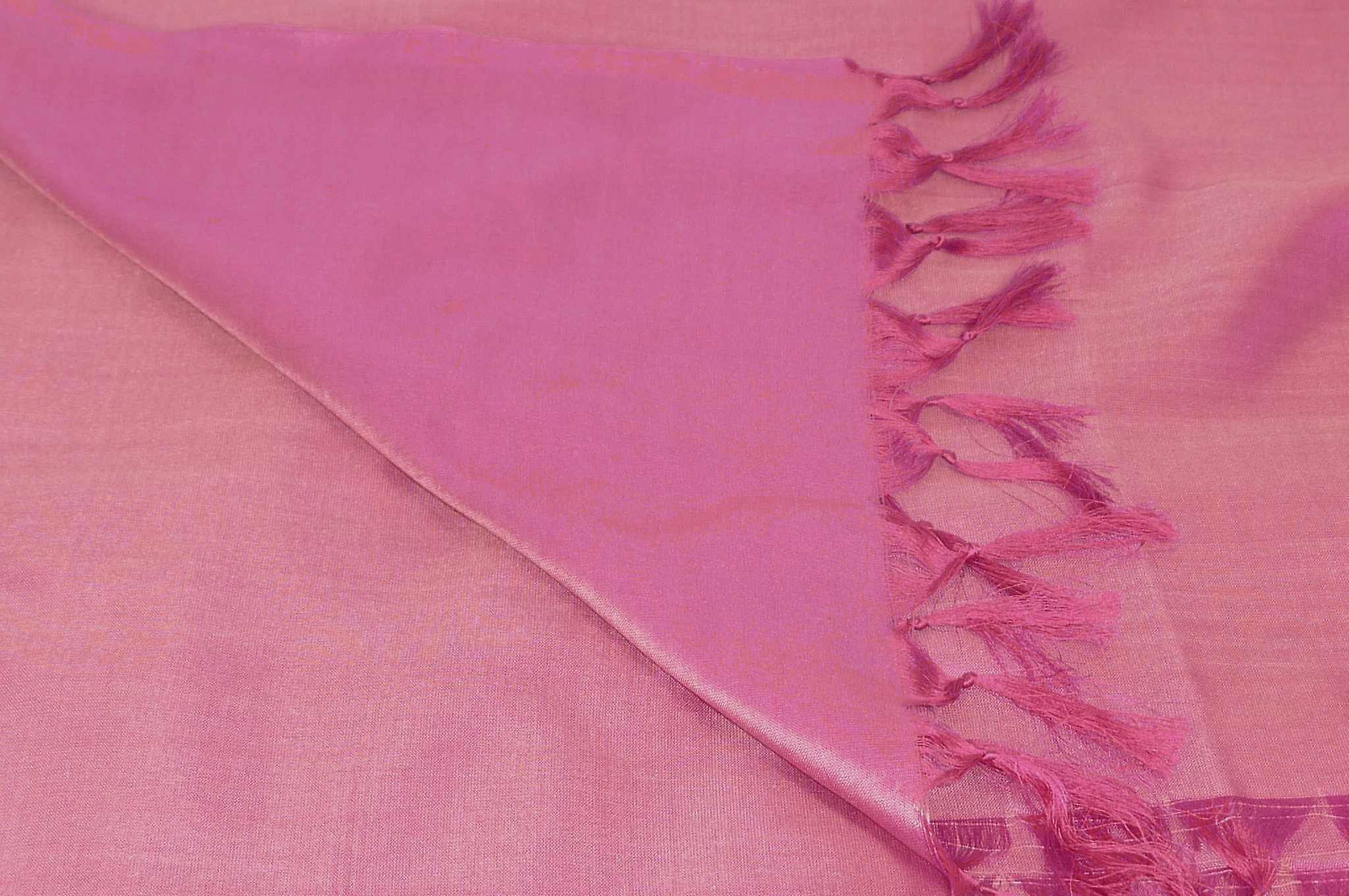 Varanasi Silk Long Scarf Heritage Range Srini 2 Cerise by Pashmina & Silk