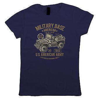 American Army 4x4, Womens T Shirt - 1942 Militär Legend Retro Vintage Gift
