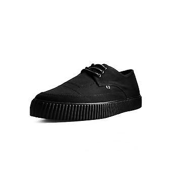 TUK Shoes Black Basic Twill Pointed Lace Up EZC
