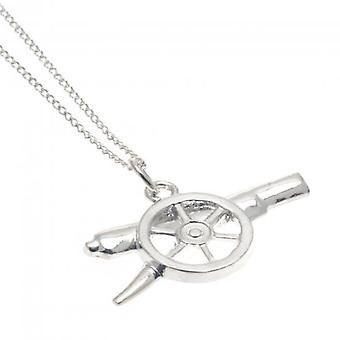 Arsenal Sterling Silver Pendant & Chain GN