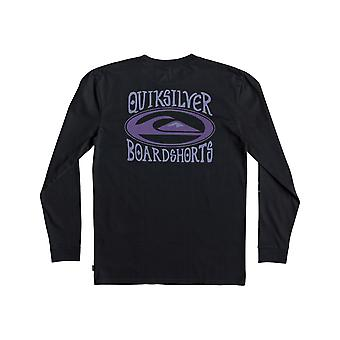 Quiksilver Cosmic paciente manga comprida T-shirt em preto