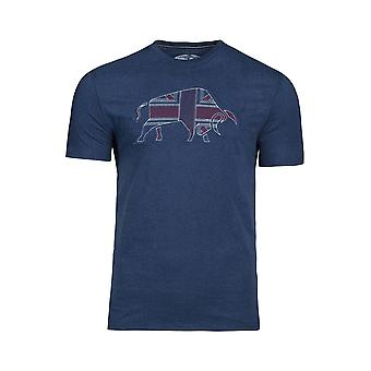 Embroidered Union Jack Tee - Navy
