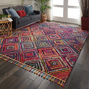 Nomad Nourison NMD01 Red Multi  Rectangle Rugs Traditional Rugs