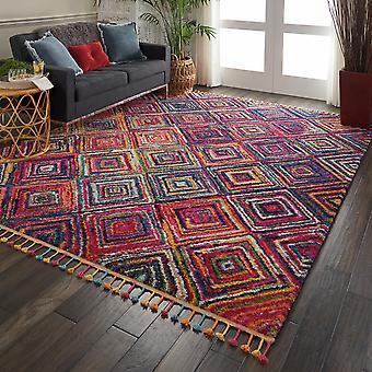Nómada Nourison NMD01 rectángulo rojo Multi alfombras alfombras tradicionales