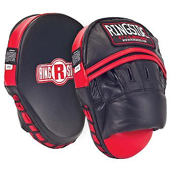Ringside Panther Boxing Punch Mitts - Black/Red