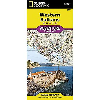 Western Balkans (National Geographic Adventure Map)