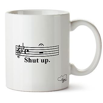 Hippowarehouse kjeft musikk Merk trykt krus Cup keramiske 10 Unzen