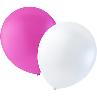 Sassier - Balloons Latex Mix by Pink and White - 100-pack