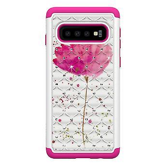 Samsung Galaxy S10 TPU-Shell Armor Extra-durable-flor rosa