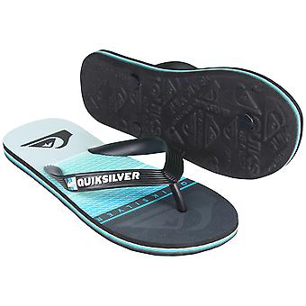 Quiksilver Mens Molokai Highline Slab Sandals - Black/Blue/Gray