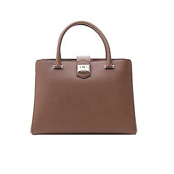 Jimmy Choo Mariannegfhstone Women's Brown Leather Briefcase