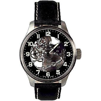 Zeno-watch reloj OS piloto esqueleto 8558-9 S-a1