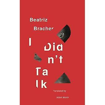 I Didn't Talk by Beatriz Bracher - 9780811227360 Book