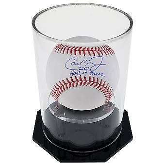 OnDisplay Deluxe UV-Protected Baseball/Tennis Display Case - Round Black Base