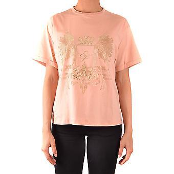 Elisabetta Franchi Ezbc050183 Women's Pink Cotton T-shirt