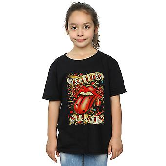 T-shirt Rolling Stones Girls Tongue And Stars