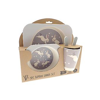 Country Club Bamboo Dinner Set, Rabbit