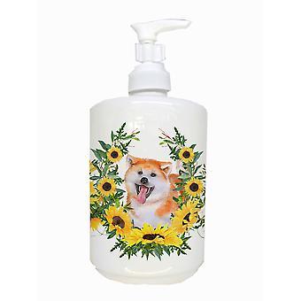 Carolines Treasures  CK2895SOAP Akita Ceramic Soap Dispenser