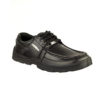 Mirak Kids Tony Boys School Shoes Black