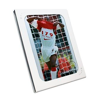 Ian Wright Signed Arsenal Photo In Gift Box: 179 Goals