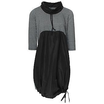 Latte Roll Neck Parachute Tie Hem Dress