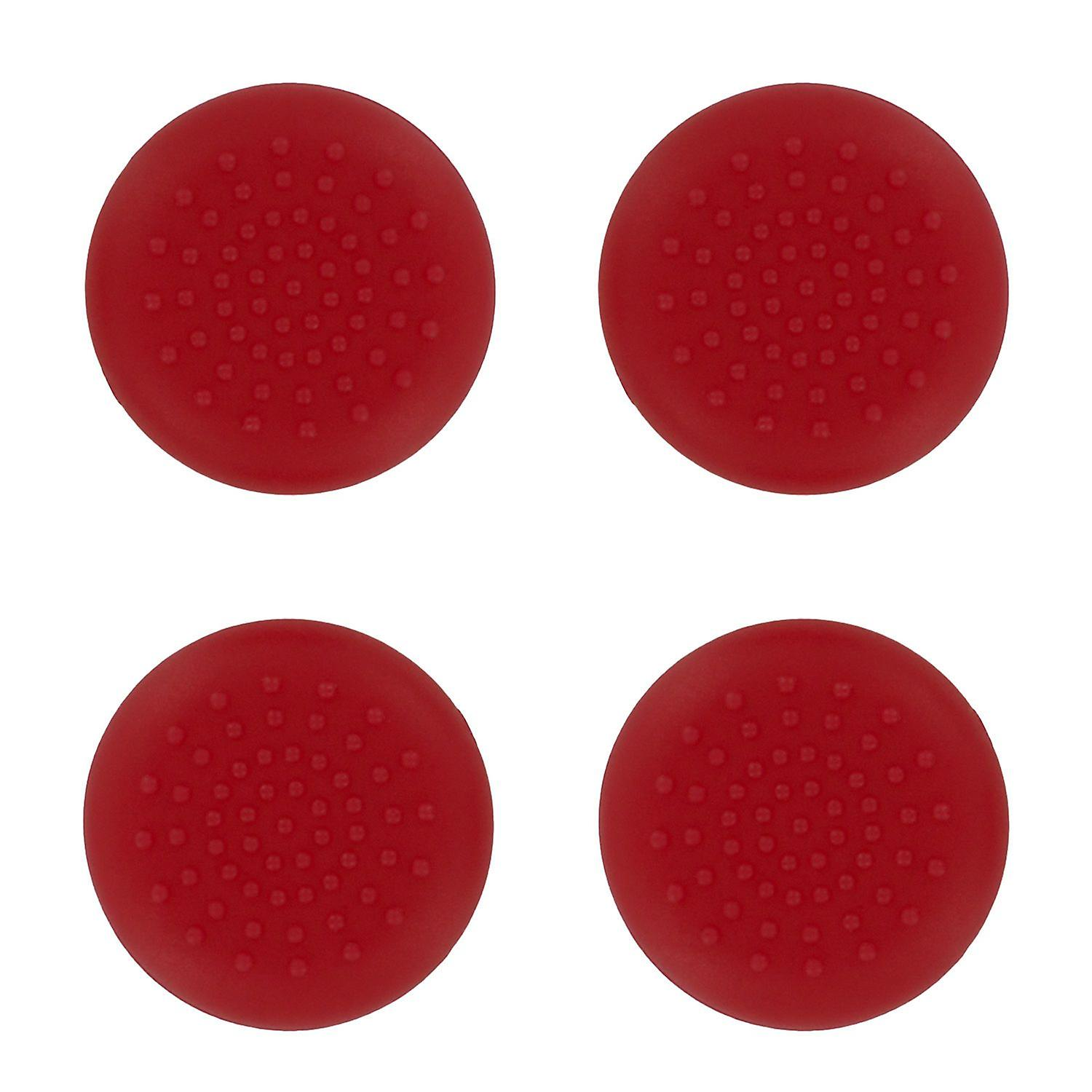Tpu analogue thumb grip stick concave covers caps for xbox 360 - 4 pack red