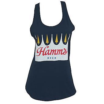 Hamm's Crown Logo Racerback Women's Navy Tank Top