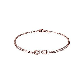 Elli Women's Bracelet in Silver 925 Plated in Rose Gold with Infinite Sign