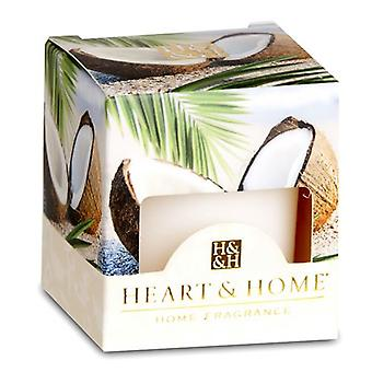 Coconut Escape Heart and Home Votive Candle
