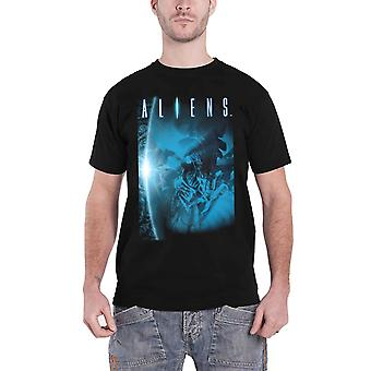 Aliens T Shirt Title Movie Logo new Official Mens Black
