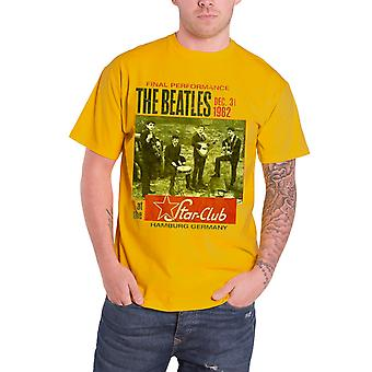 The Beatles T Shirt Star Club Hamburg vintage poster Official Mens New Yellow