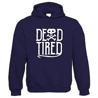 Dead Tired Hoodie | Halloween Fancy Dress Costume Trick Or Treat | Hallows Eve Ghost Pumpkin Witch Trick Treat Spooky | Halloween Gift Him Her Birthday