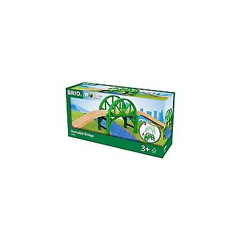 Brio 33885 Wooden Train Track - Stackable Bridge