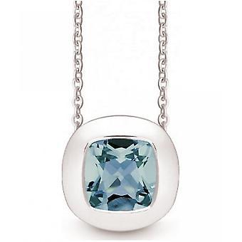 QUINN - Collana - Donne -Silver 925 - Pietra preziosa - Topas blu - 27250958