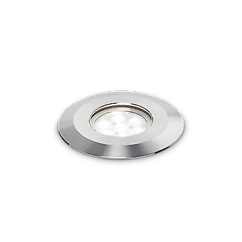 Ideal Lux Park LED 1 Light Outdoor Recessed Spotlight Steel IDL222844