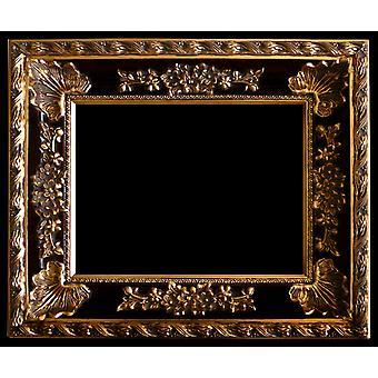 Träram i guld innermått 90x120 cm