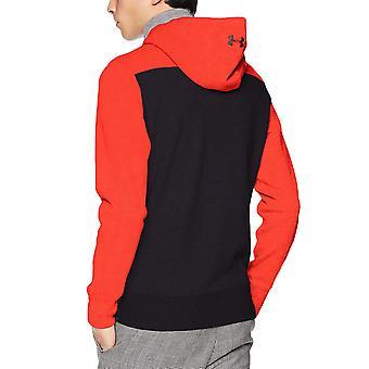 Under Armour Mens Pursuit Microthread Pullover Long Sleeve Sweatshirt Hoodie Red